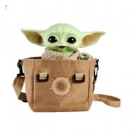 Star Wars The Mandalorian - Peluche électronique avec sac à bandoulière The Child 28 cm