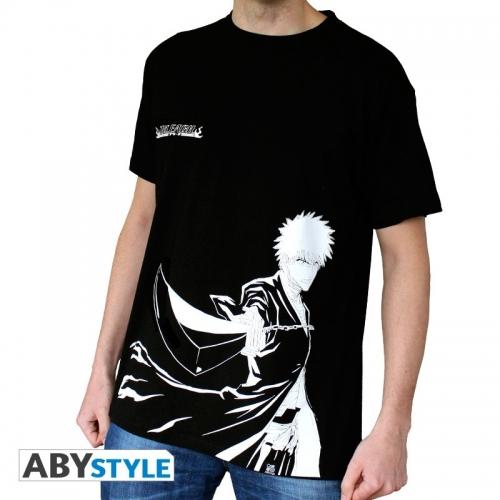 BLEACH - Tshirt Ichigo N&B homme MC black - basic