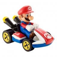 Mario Kart - Véhicule métal Hot Wheels 1/64 Mario (Standard Kart) 8 cm
