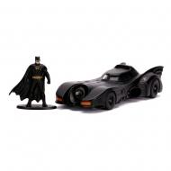 Batman 1989 - Réplique métal 1/32 Hollywood Rides Batmobile 1989 avec figurine