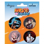 NARUTO SHIPPUDEN - Pack de 4 badges Characters 1 X 5