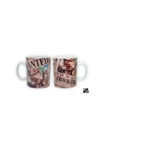 ONE PIECE - Mug Wanted Zorro (porcelaine) - 460 Ml