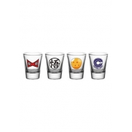 Dragonball Z - Set 4 verres à liqueur