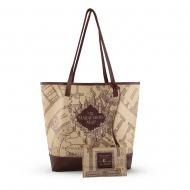 Harry Potter - Sac shopping & pochette Marauder's Map