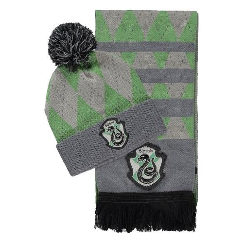 Harry Potter - Set bonnet & écharpe Serpentard