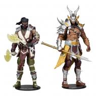 Mortal Kombat - Pack 2 figurines Sub-Zero & Shao Khan 18 cm