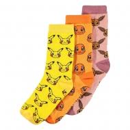 Pokémon - Pack 3 paires de chaussettes Three Icons taille 39-42