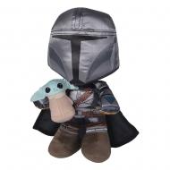 Star Wars : The Mandalorian - Peluche Manda + Grogu 25 cm