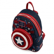 Marvel - Sac à dos Captain America 80th Anniversary Floral Shield By Loungefly