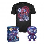 Captain America Civil War - Figurine et T-Shirt POP! & Tee set Captain America Art Series