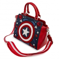 Marvel -  Sac à bandoulière Captain America 80th Anniversary Floral Shield by Loungefly