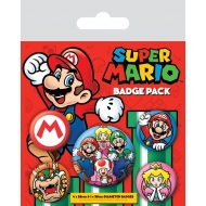 Nintendo  - Pack 5 badges Super Mario