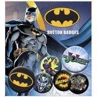 DC Comics - Pack 6 badges Batman & Joker