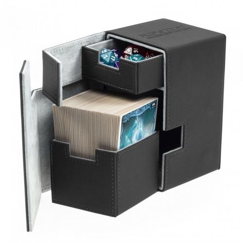 Ultimate Guard - Boite pour cartes Flip'n'Tray Deck Case 100+ taille standard XenoSkin Noir