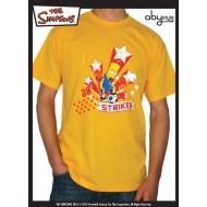 SIMPSONS - Tshirt Bart Striker homme MC gold - basic