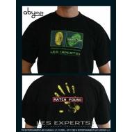 LES EXPERTS - Tshirt Empreinte homme MC black - basic