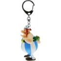 Asterix - Porte-clés Obelix avec des fleurs 13 cm