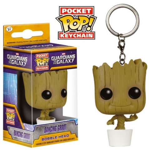 Les Gardiens de la Galaxie - Porte-clés Pocket POP! Dancing Groot 4 cm