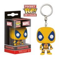 Deadpool - Marvel Comics porte-clés Pocket POP! Yellow  4 cm