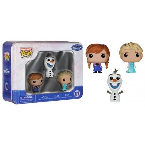 La Reine des Neiges - Coffret Pocket Pop Olaf Anna et Elsa